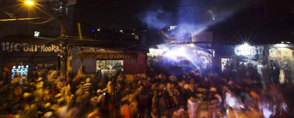 Baile DZ7, em Paraisópolis, zona sul de São Paulo, uma semana após as nove mortes no local