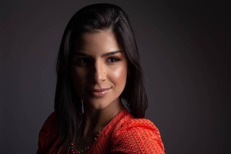 Retrato da Miss Brasil 2019 Júlia Horta, no estúdio da Folha