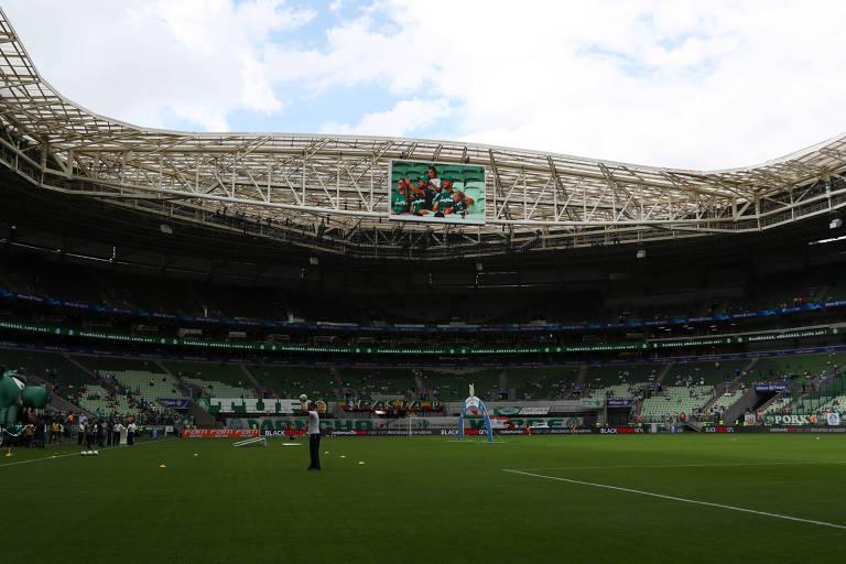 O Allianz Parque antes do confronto entre Palmeiras e Flamengo, pelo Brasileiro de 2019