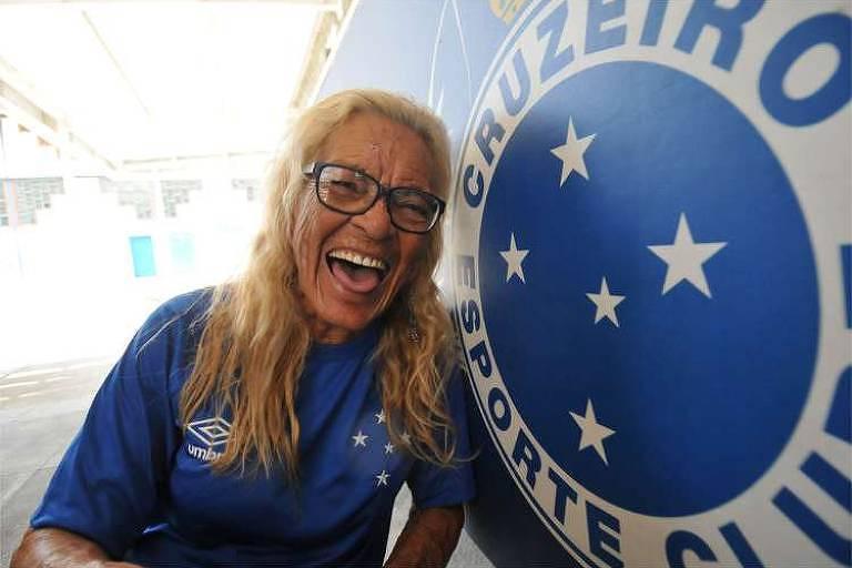 Dona Salomé, torcedora símbolo do Cruzeiro
