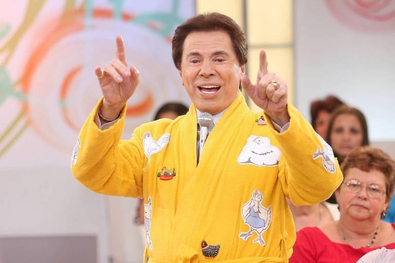 Silvio Santos de paletó amarelo, em 2008
