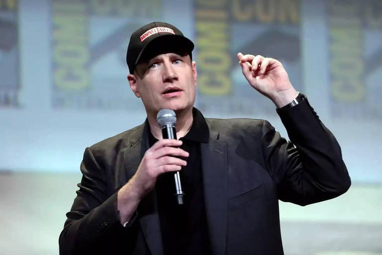 Imagens do presidente da Marvel Kevin Feige