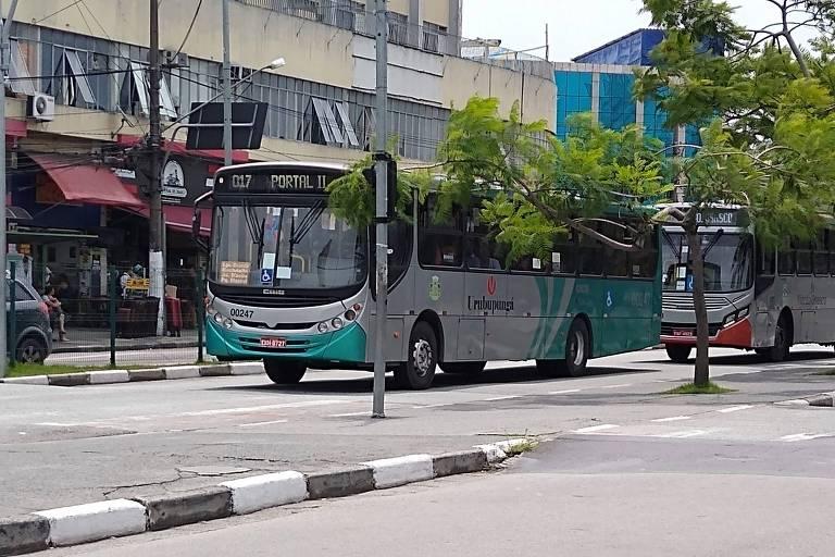 Ônibus em Osasco, na Grande São Paulo, onde foi adotado sistema de reconhecimento facial