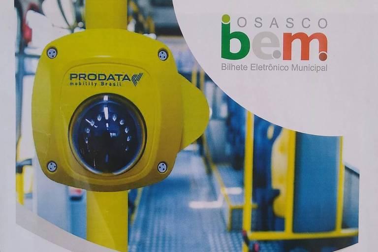 Câmera que identifica usuários do bilhete de ônibus em Osasco