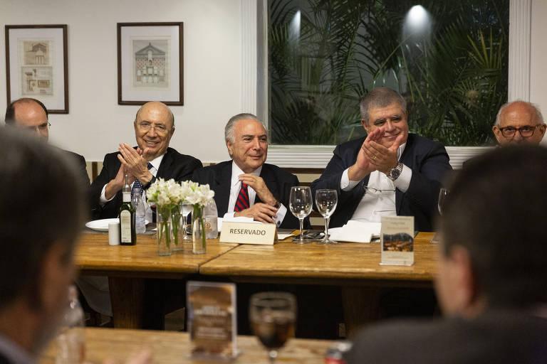 Jantar de confraternização dos ex-ministros do governo Temer
