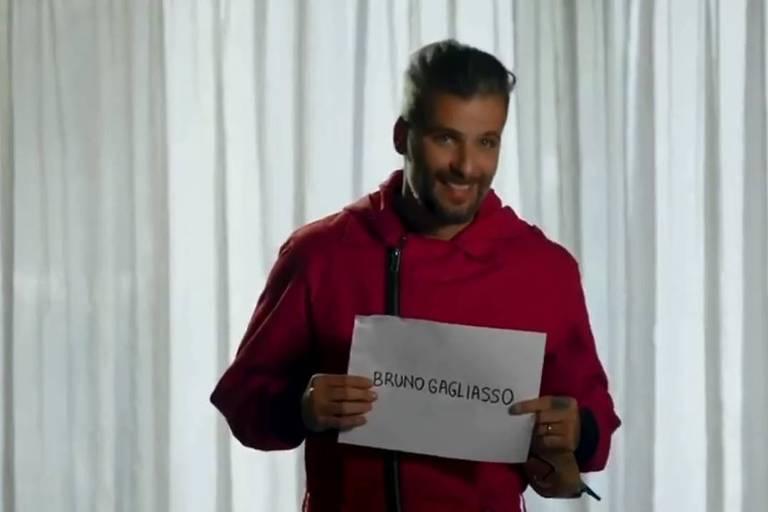 O ator carioca Bruno Gagliasso em vídeo promocional da Netflix.