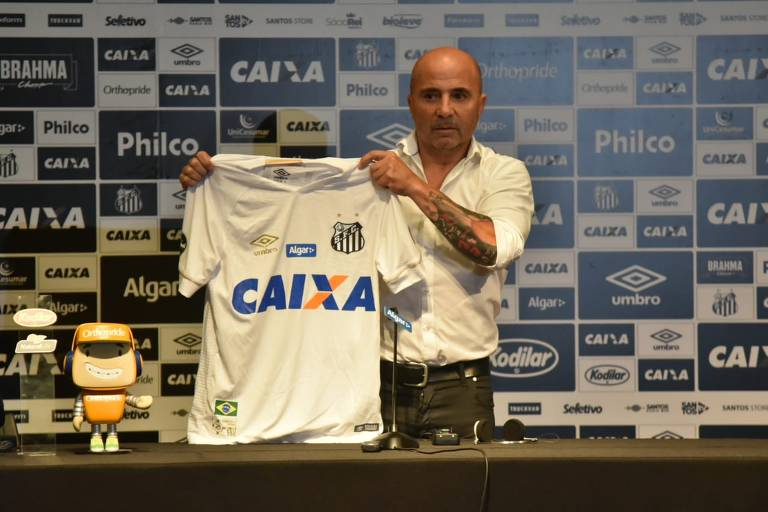 Passagem de Sampaoli no comando do Santos