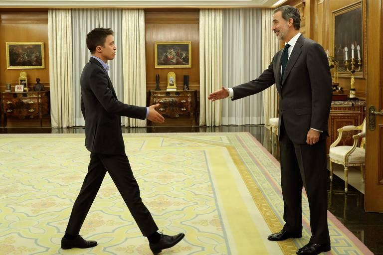 O rei Felipe 6º recebe Iñigo Errejón, líder do Más País