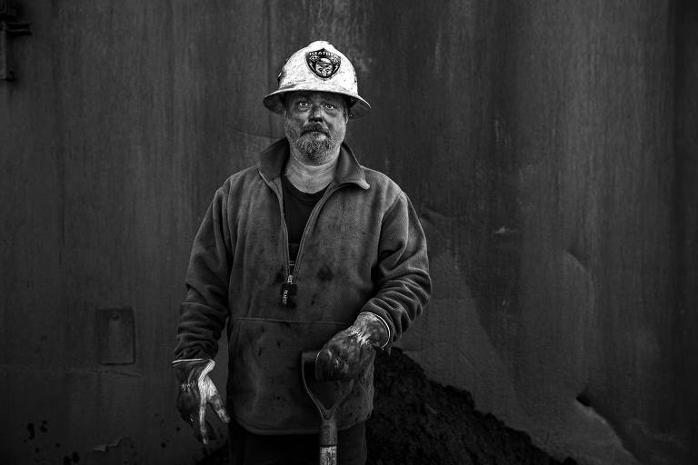 Scott Birk, funcionário de uma planta de processamento de antracito na região carvoeira da Pensilvânia