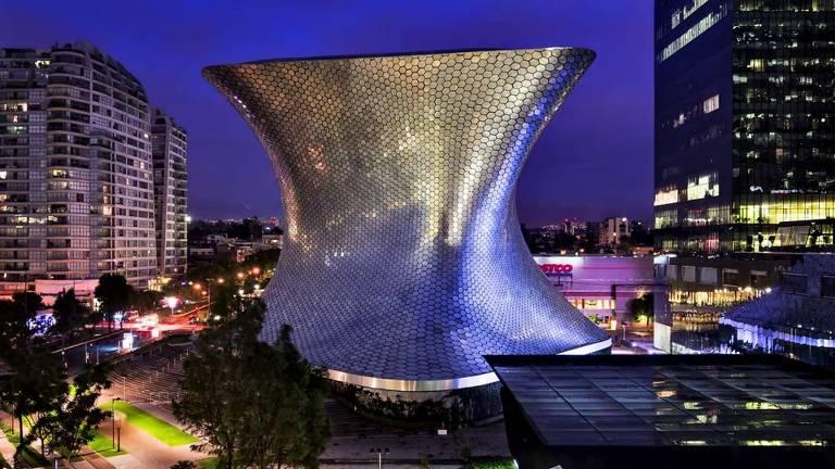 Museu Soumaya, no bairro Polanco, na Cidade do México