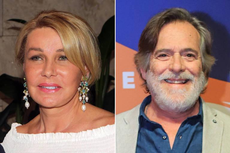 A primeira-dama do estado de São Paulo, Bia Doria; ao lado, o ator José de Abreu