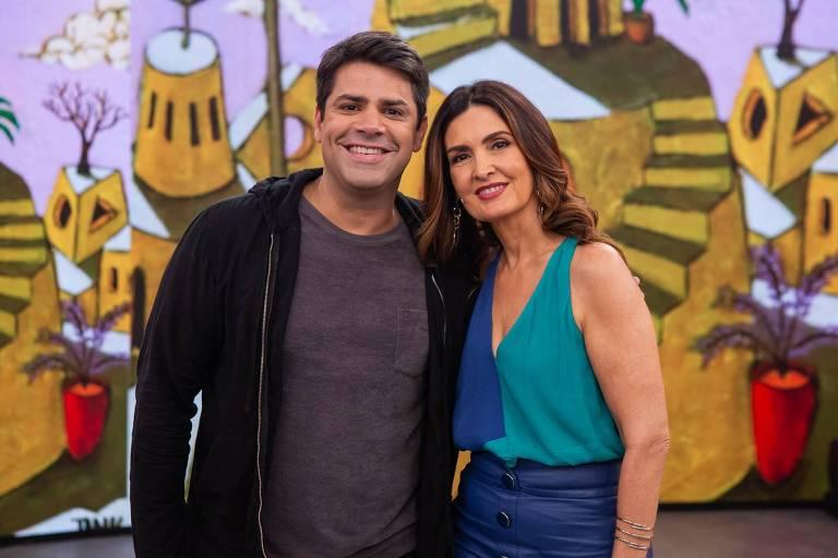 Lair Rennó e Fátima Bernardes