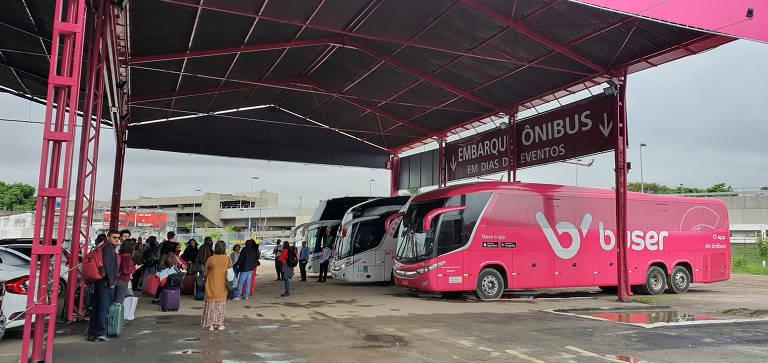Terminal de ônibus de fretamento colaborativo em SP
