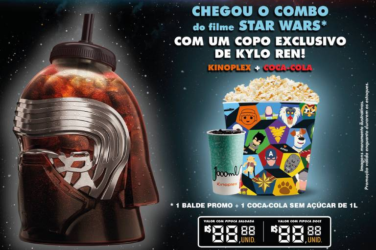Combo do Kinoplex para 'Star Wars: A Ascensão Skywalker'