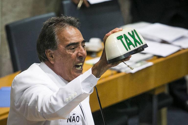 O vereador Adilson Amadeu (DEM) na Câmara Municipal de SP