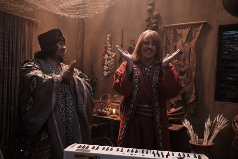 Cena do especial de natal da Netflix 'A Primeira Tentação de Cristo', feita pelo grupo Porta dos Fundos