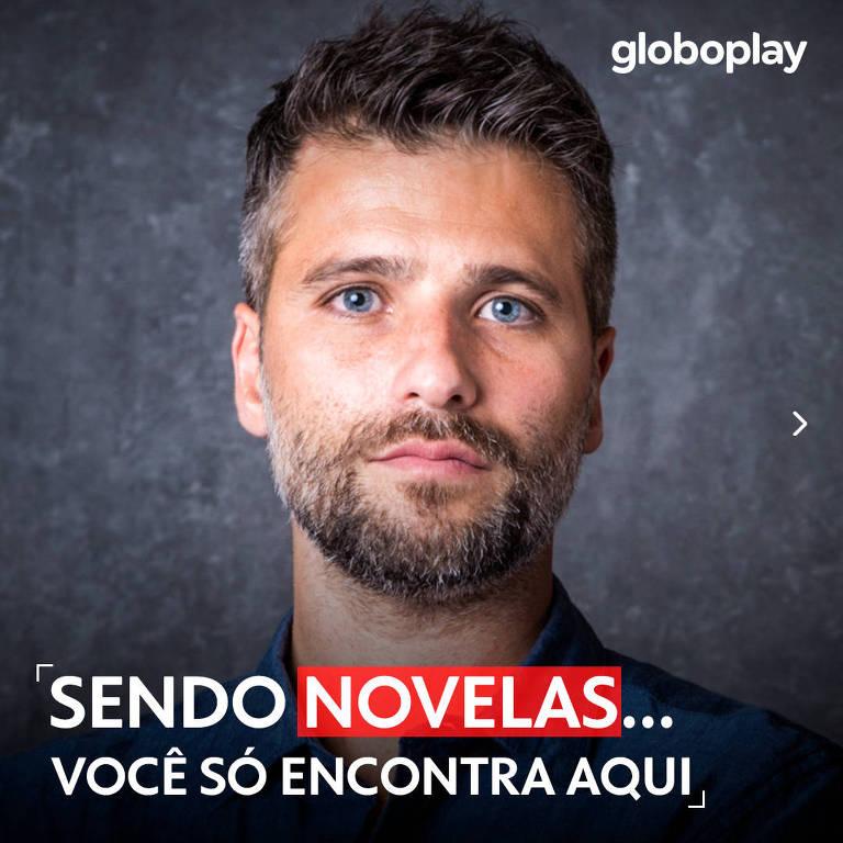 Bruno Gagliasso em anúncio do Globoplay