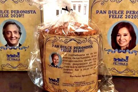 Panetones peronistas foram vendidos no dia da posse de Alberto Fernández, em Buenos Aires. (Foto: Divulgacao)