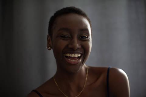 SÃO PAULO, SP, BRASIL, 31-10-2019: Retrato de Teresa Aminata Djau, da Guiné Bissaueleita e em São Paulo Miss África Brasil 2019,  (Foto: Bruno Santos/ Folhapress) *** FSP-MUNDO *** EXCLUSIVO FOLHA***