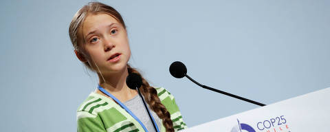 Climate change activist Greta Thunberg speaks at the High-Level event on Climate Emergency during the U.N. Climate Change Conference (COP25) in Madrid, Spain December 11, 2019. REUTERS/Susana Vera ORG XMIT: GDN421