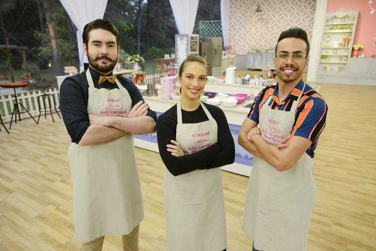 João, Karoline e Francisco são os finalistas da 5º temporada do Bake Off Brasil