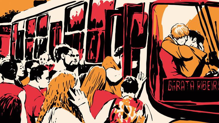 """Cariocas não perdoaram a sanha do prefeito Marcelo Crivella (PRB) contra a HQ """"Vingadores - A Cruzada das Crianças"""", que ele mandou recolher na Bienal do Livro por ter beijo gay. Dá-lhe meme com o beijo censurado em enchentes, ônibus lotados, buracos nas ruas e outras mazelas do Rio"""