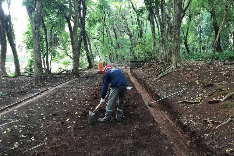 Parque Augusta terá trilhas descobertas durante obra