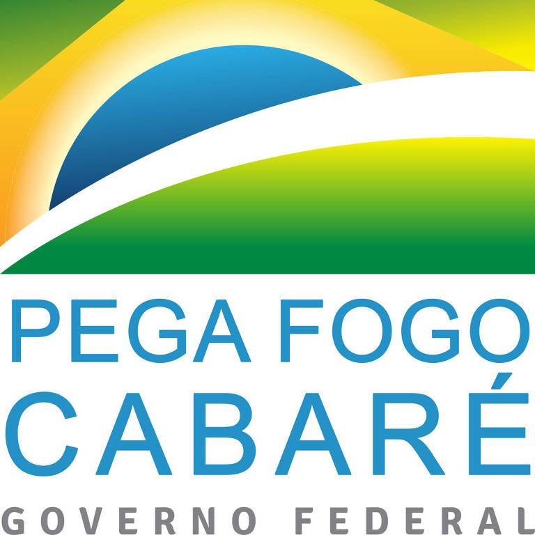 Lançada em janeiro, a nova logomarca do governo federal inspirou montagens trocadas pelo WhatsApp