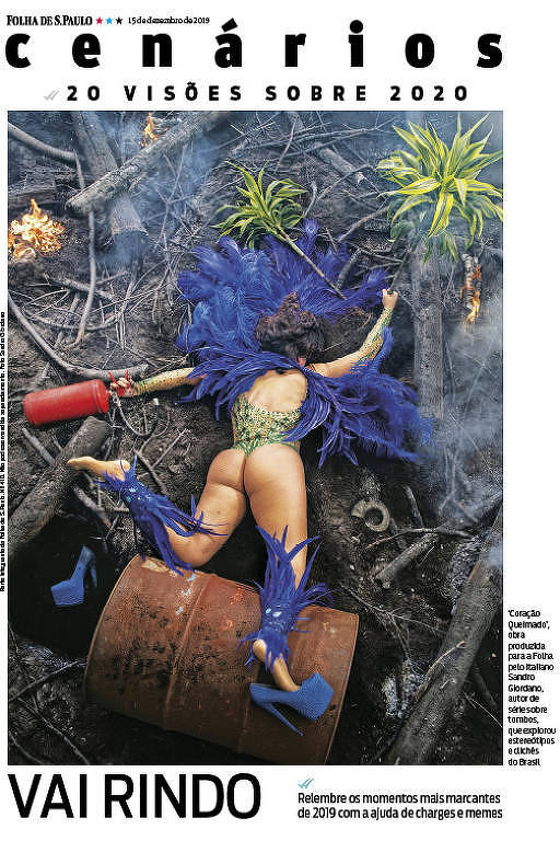 Capa da revista Cenários produzida pelo fotógrafo italiano Sandro Giordano