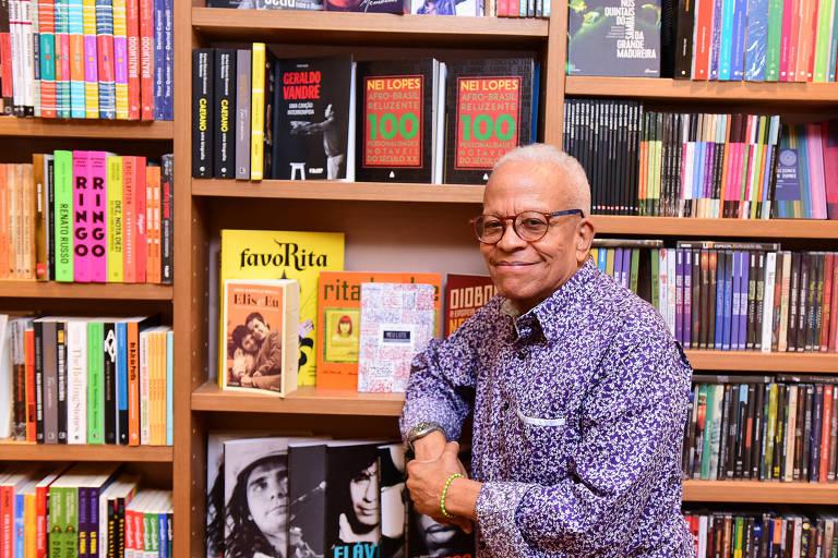 Retrato do escritor Nei Lopes, no Rio de Janeiro