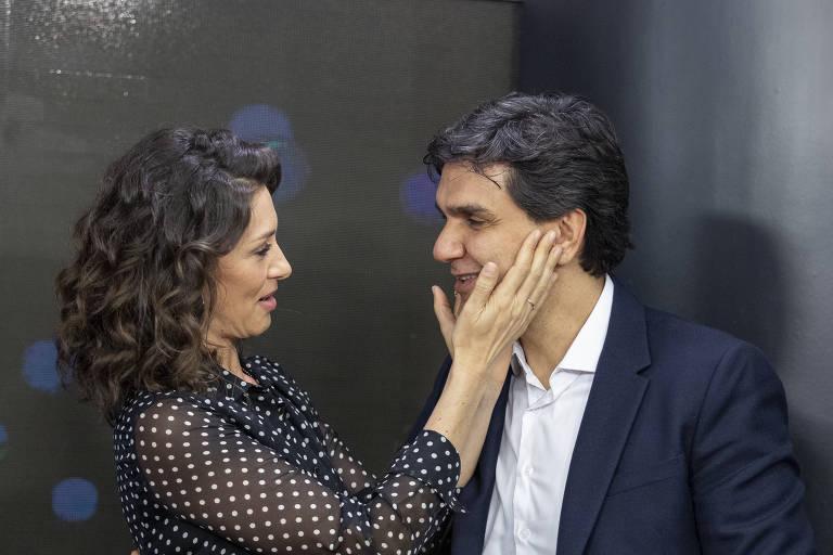 Maria Fernanda Cândido e Gabriel Chalita