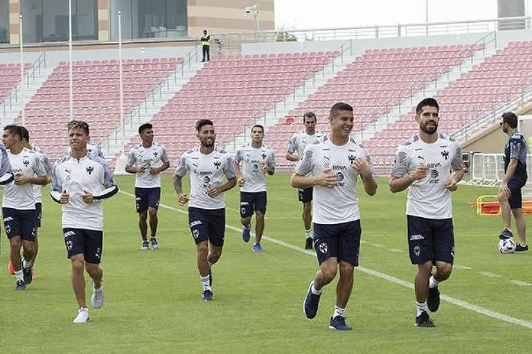 Treino do Monterrey em Doha, sede do Mundial de Clubes da Fifa