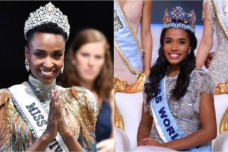 Com vitória da Jamaica no Miss Mundo, duas mulheres negras são donas das principais coroas de 2019