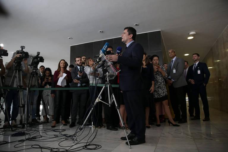 Sergio Moro fala no lançamento do pacote anticrime do governo- 19.fev.19