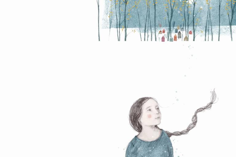 """Ilustração do livro """"Balada da estrela e outros poemas"""", de Gabriela Mistral, publicada pela Olho de Vidro"""