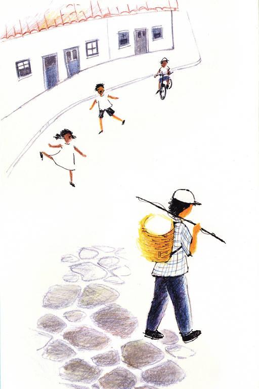 """Ilustração do livro """"Histórias Guardadas pelo Rio"""""""