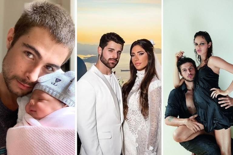 Da esq. para dir., DJ Alok e Romana Novais, Chay Suede e Laura Neiva e Rafa Viti e Clara Maria