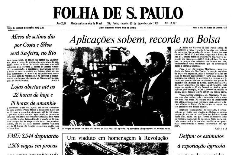 1969: Maluf batiza viaduto no centro de SP que remete à tomada de poder em 64