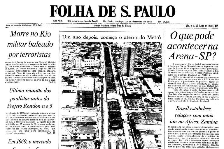 1969: Na linha Norte-Sul do metrô, Maluf inicia reurbanização da av. Jabaquara