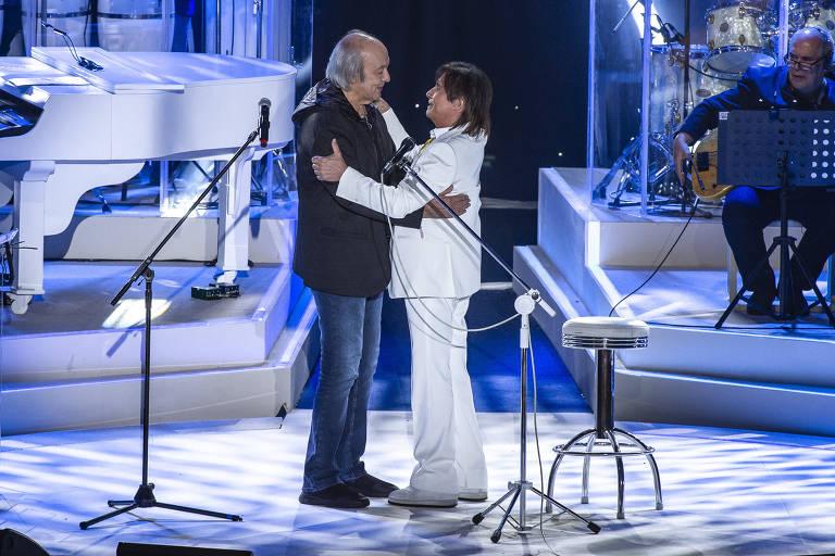 Gravação do especial de fim de ano de Roberto Carlos