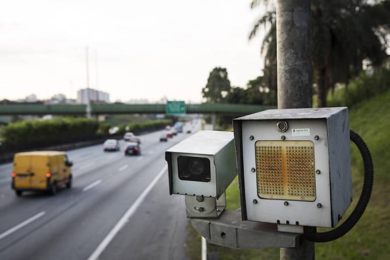 Radar instalado na rodovia dos Imigrantes, em São Paulo