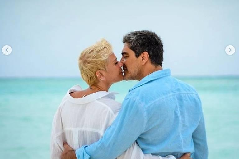 Junno e Xuxa completam sete anos juntos