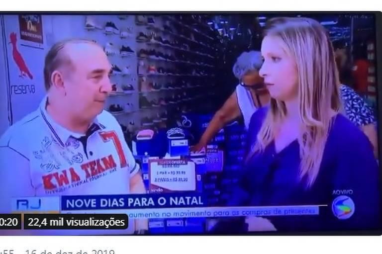 Repórter desmaia ao vivo na Globo