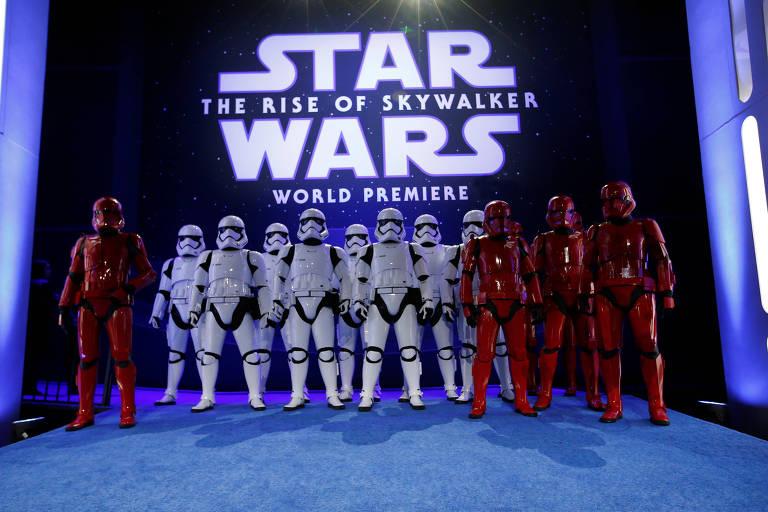 Stormtroopers na pré-estreia de 'Star Wars: Ascenção Skywalker', em Los Angeles