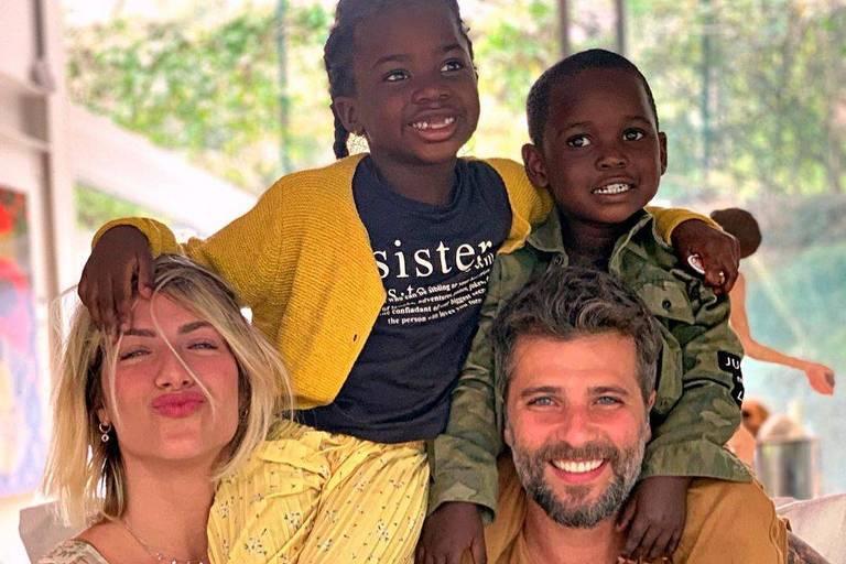 Família Bruno Gagliasso e Giovanna Ewbank