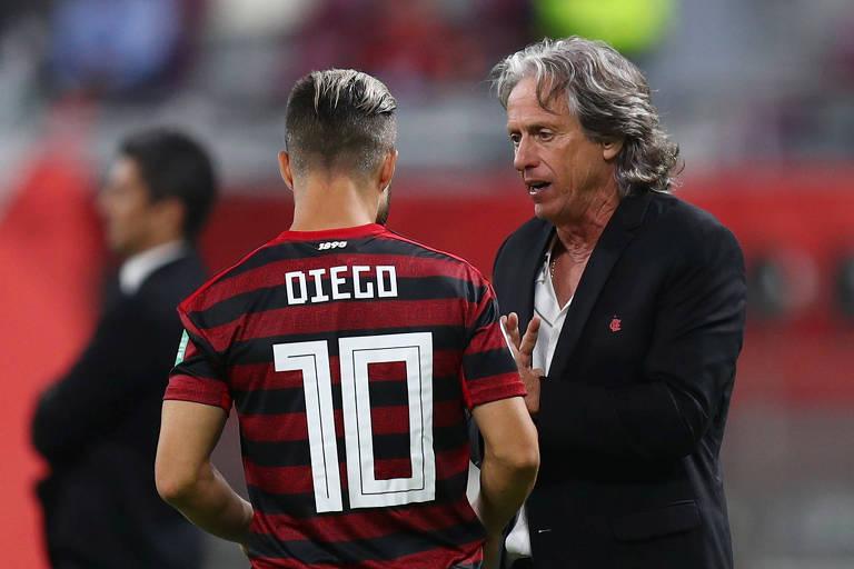 Jorge Jesus colocou Diego em campo na semifinal do Mundial com o jogo 1 a 1 e ele foi um dos principais responsáveis pela virada do Flamengo sobre o Al Hilal