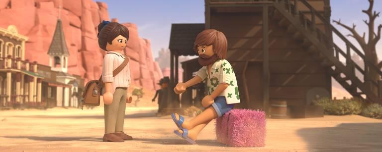 Marla e Dell em cena de 'Playmobil - o Filme'