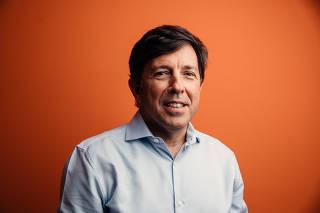 João Amoêdo, presidente do Novo, durante entrevista