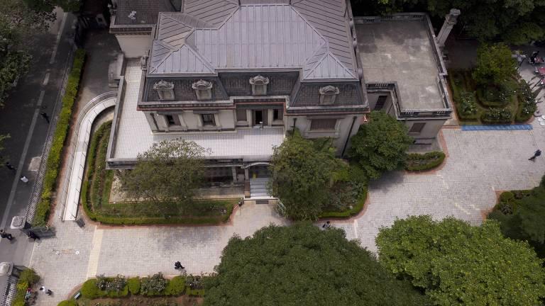 Vista aérea da Casa das Rosas, em São Paulo
