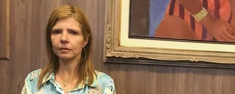 Mônica Bergamo 19.12.2019: Rose Miriam Souza di Matteo no escritório de seu advogado Nelson Wilians, em São Paulo. (Foto: Bruno B. Soraggi/Folhapress)